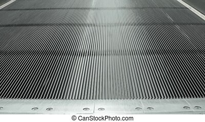 Passing over a Moving Sidewalk at an Airport - Continuous...