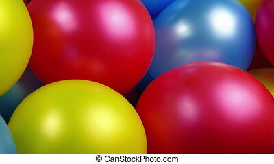 Passing Party Balloons - Celebration Concept - Tracking shot...