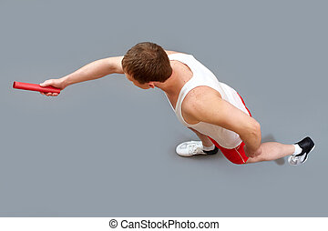 Passing relay baton
