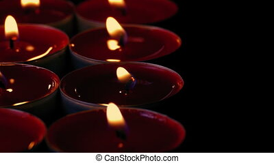 Passing Rows Of Candles In Catholic Church - Passing rows of...