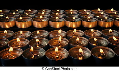 Passing Rows Of Small Candles
