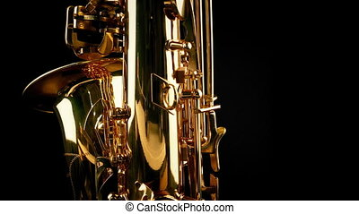 Passing Saxophone Back View - Moving slowly past saxophone...