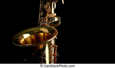 Passing Saxophone Front View - Moving slowly past saxophone...