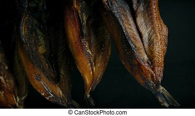 Passing Smoked Kippers Hanging Up - Moving past smoked...