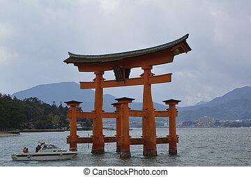 Passing through the Torii