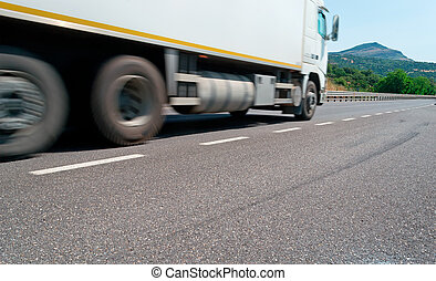passing truck