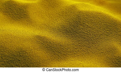 Passing Yellow Powder Pile - Moving slowly past pile of...
