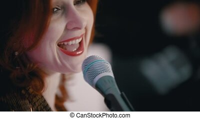 passion, couverture, chant, gingembre, jouer, chanson, -,...