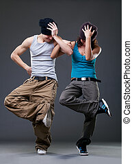 Passion dance couple.