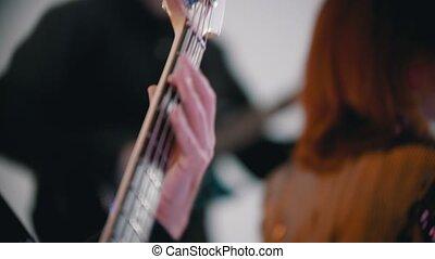 passion, donner, couverture, jouer, performance, chanson, -,...