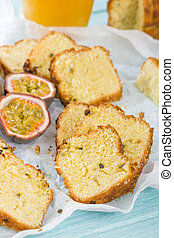 Passion Fruit Cake - Cake made with passion fruit juice....