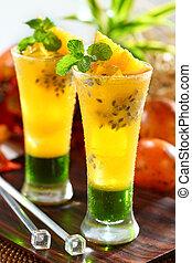 passion fruit drinks - refreshing passion fruit orange juice