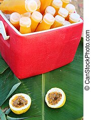 Passion fruit juice delicious at street food