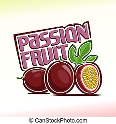 Passion fruit - Vector illustration on the theme of the logo...