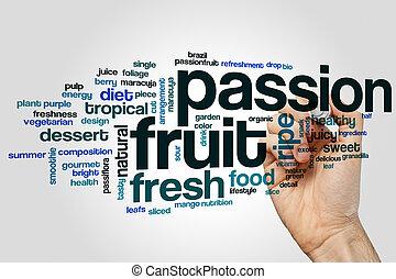 Passion fruit word cloud