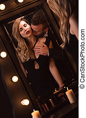 Passion male caressing woman - Picture of a passion male...
