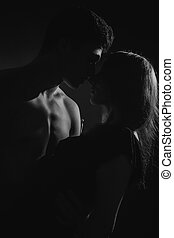 passion portrait of couple in love