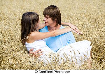 Passion - Portrait of man holding beautiful girlfriend on ...