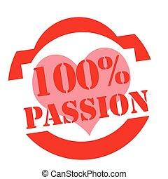 Passion-red stamp