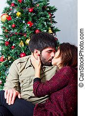 Passional kiss