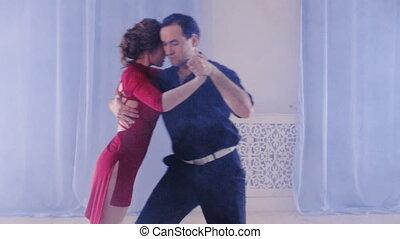 passionate couple dancing mambo - passionate couple dancing...