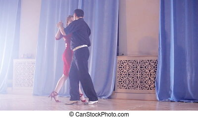 passionate couple dancing mambo - passionate couple dancing...