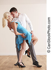 Passionate Couple Dancing Together