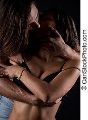 Passionate couple having sex