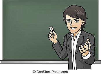 Passionate Cramschool teacher's les