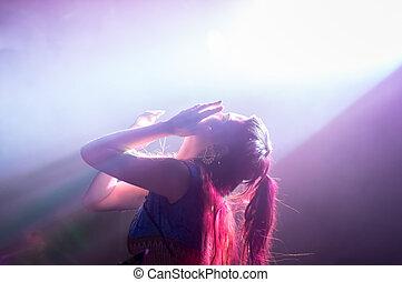 Passionate female singer - Passionate dancing female singer ...