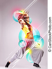 passionate young woman dancer