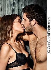 passionné, baiser