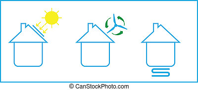 Passive house icon vector illustration