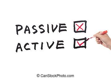 passivo, ou, ativo