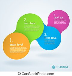 passo, apresentação, template., infographic