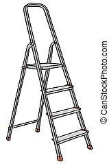 passo, metal, escada
