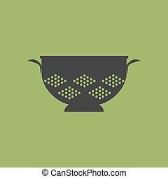 passoire, passoire, cuisine, icône