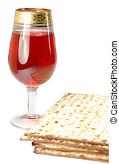Passover celebration still life -   unleavened; hebrew