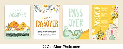 Passover greeting car set. seder pesach initation, greeting ...