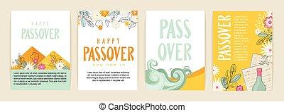 Passover greeting car set. seder pesach initation, greeting ...