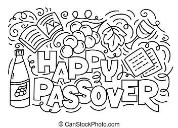 Jewish holiday Pesach - Passover greeting card (Jewish ...