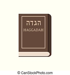 Passover holiday haggadah book flat design icon