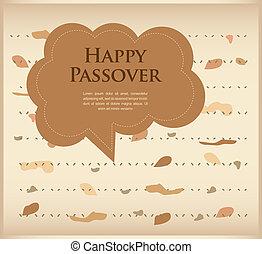 passover invitation. matzoh (jewish bread) with speech bubble