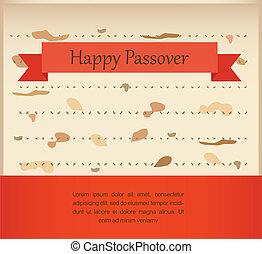 passover invitation on matzoh background
