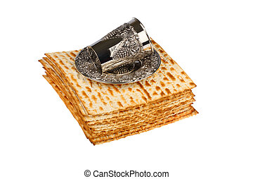 passover matzo with wine cup - passover matzo and wine cup...