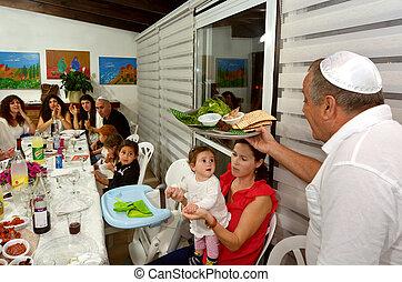 Passover Seder - Jewish holidays - JERUSALEM - APR 04...