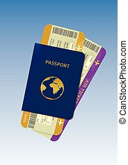 Passport and air tickets