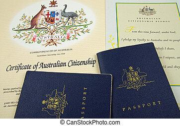 passport and citizenship documents