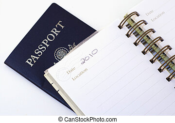 passport and paper