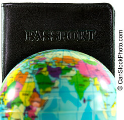 Passport concept travel around the world